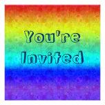 Soft Rainbow Invitations
