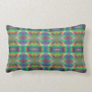 Soft Rainbow Lights Bands Abstract Design Lumbar Cushion
