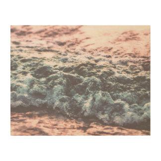 Soft Sea Swash Wave On A Beach Wood Wall Decor