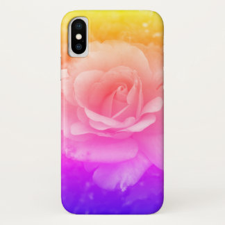 Soft Shades Blooming Rose iPhone X Case