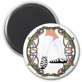 Soft Shoe Dancer - Celtic Knotwork Refrigerator Magnet
