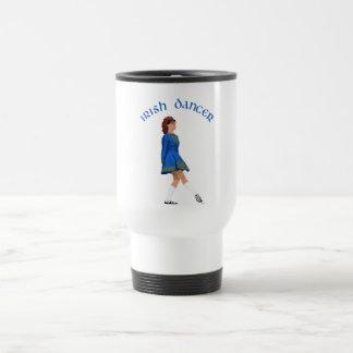 Soft Shoe Irish Dancer in Blue Stainless Steel Travel Mug