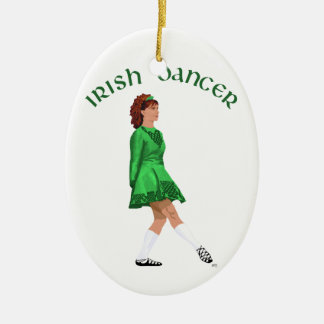 Soft Shoe Irish Dancer in Green Christmas Ornament