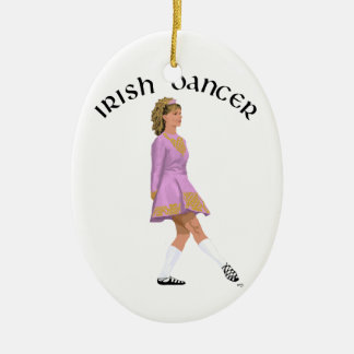Soft Shoe Irish Dancer in Pink Christmas Ornament