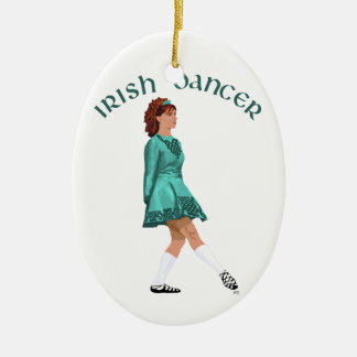 Soft Shoe Irish Dancer in Turquoise Christmas Ornament