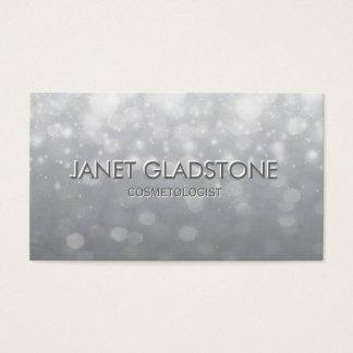Soft Silver Bokeh Lights Business Card