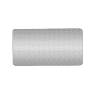 Soft Silver Template Address Shipping Label