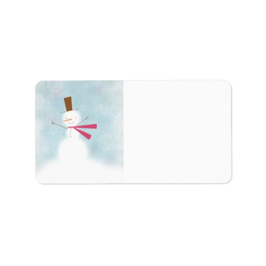Soft snowman address label