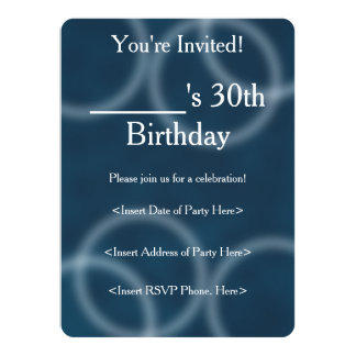 Soft Sound Blue Ripple Digital Abstract Art 5.5x7.5 Paper Invitation Card