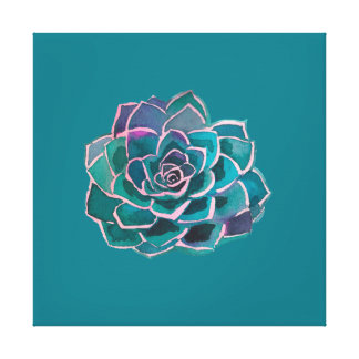 Soft Succulent Canvas Print
