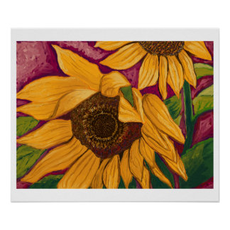 Soft Sunflowers Poster