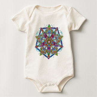 Soft Taffy Pulled Into Jewel Facets Baby Bodysuit