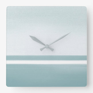 Soft Teal Modern Square Wall Clock