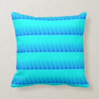 Soft Toned Blue Shade Pattern Cushion