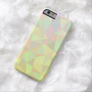 Soft Touch Pastel Colors Polygons Pattern Barely There iPhone 6 Case