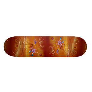 Soft touch skate board deck