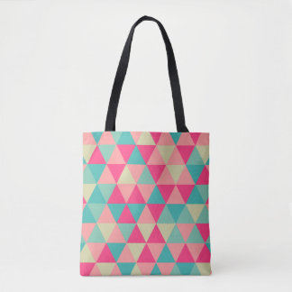 Soft Triangle Pattern Tote Bag