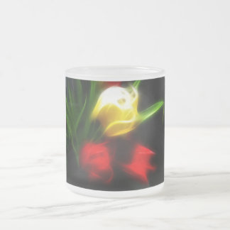 Soft tulip frosted glass mug