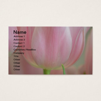 Soft Tulips Business Card