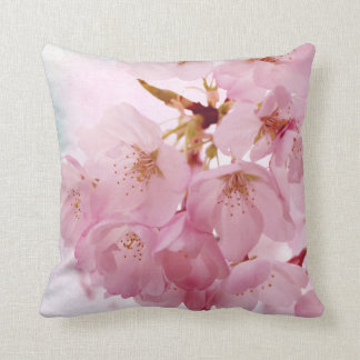 Soft Vintage Cherry Blossoms Cushion