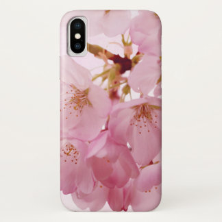 Soft Vintage Pink Cherry Blossoms iPhone X Case