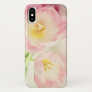 Soft Vintage Pink Tulips iPhone X Case