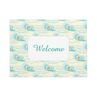 Soft Waves Pattern | Add Your Text Doormat