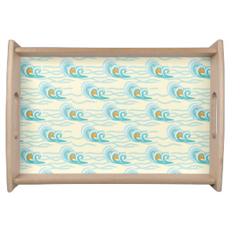 Soft Waves Pattern Serving Tray