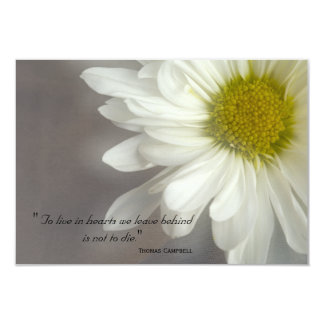 Soft White Daisy Thank You for Your Sympathy Card