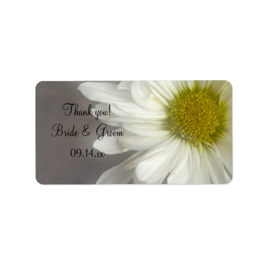 Soft White Daisy Wedding Thank You Favour Tags Address Label
