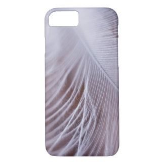 Soft white feather macro photography iPhone 7 case