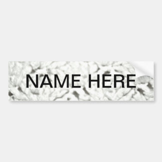 Soft White Paper Products for Any Time Use Bumper Stickers