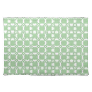 Soft Willow Green White Pattern Image 36 Place Mats