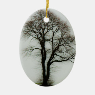 Soft winter tree christmas ornament