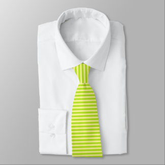 Soft Yellow and Lime Green Stripes Tie