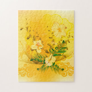 Soft yellow flowers puzzle