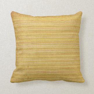 Soft Yellow Mellow Sand Blend Stripe Throw Pillow