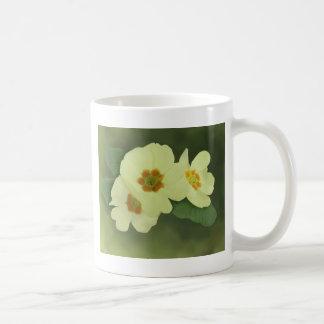 Soft Yellow Primrose Flowers Coffee Mug