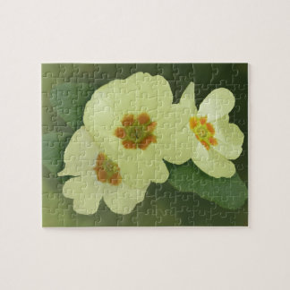 Soft Yellow Primrose Flowers Jigsaw Puzzle