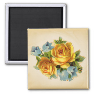 Soft Yellow Rose Magnets