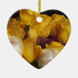 Soft Yellow Roses Christmas Ornament