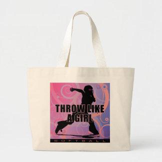 softball32 large tote bag