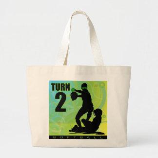 softball54 large tote bag