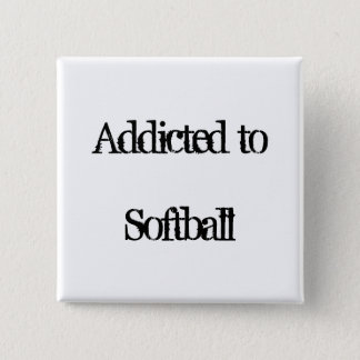Softball 15 Cm Square Badge