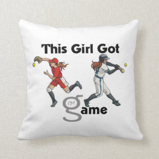 Softball 2 Sided Pillow