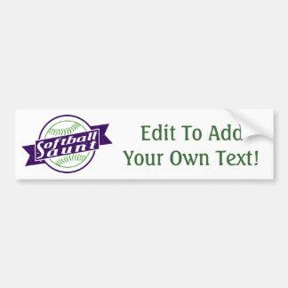 Softball Aunt Bumper Sticker