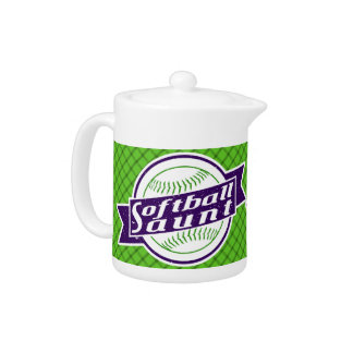 Softball Aunt Tea Pot