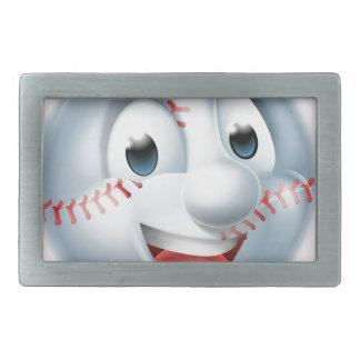 Softball Ball Man Cartoon Character Rectangular Belt Buckles