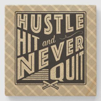 Softball Baseball Hustle, Hit & Never Quit Coaster