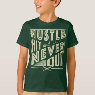 Softball Baseball Hustle Hit & Never Quit Shirt